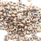 100pcs 4mm End Crimp Beads Knot Covers Jewelry Finding Craft Goldsilverbronze