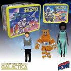 Battlestar Galactica Retro Tin Tote Lunch Box w Figures Convention Exclusive UK