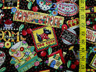MARY & CO ENGELBREIT HOME SWEET HOME 100% COTTON FABRIC BY THE 1/2 YARD