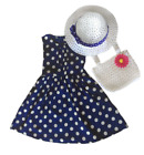 Polka Dot Dress All Occasions Set Dress with Hat and Bag 2T 3T 4T