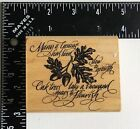 Rubber Stampede Natures Acorn Rubber Stamp A2374F