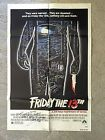 Friday the 13th Original One Sheet Poster Signed by Betsy Palmer