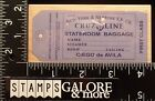 ALL NIGHT MEDIA USED RUBBER STAMPS CRUZ LINE STATEROOM BAGGAGE TICKET TAG TRAVEL