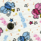 BTY 100 Cotton FLANNEL Pink Blu Elephants YOU PICK A E NATHAN