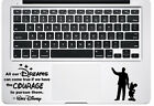 Trackpad Walt Disney Quote All our Dreams Macbook Laptop Vinyl Decal Sticker