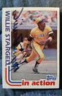 WILLIE STARGELL Autographed 1982 Topps #716 Baseball Card Authentic Autograph