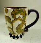 Joyce Shelton Classics ELEGANT MUG cream, olive, gold & plum RETIRED  NEW