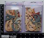 FOREVER IN TIME NEW EMBELLISHMENTS SCRAPBOOKING 2 PKG CHIPBOARD LETTERS FRENCH