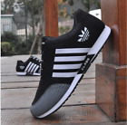 New mens fashion sports shoes breathable canvas running sports casual shoes