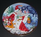 Fritz & Floyd Father Frost Celebration of Winter 1st edition Collector's Plate