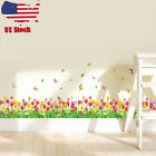 Butterfly Flower DIY Kids Bedroom Wall Stickers Baby Nursery Home Decor Decal US