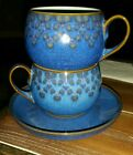 (2) Denby Langley MIDNIGHT cups mugs saucer Made in England vg Condition 3
