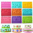 3D Silicone Lace Mold Mould Sugar Craft Fondant Mat Cake Decorating Baking Tools
