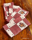 Heart and Star 70 Round Tablecloth or NapkIns Country Primitive Rustic Spivey