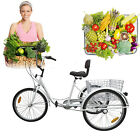 3 Wheel Adult 24 Tricycle Bike Bicycle Trike Cruise 6 Speed Basket