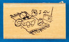 Rubber Stamp on the Beach Stamp Tanning Sunbathing For Stamp Lovers