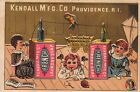 FRENCH LAUNDRY Victorian Trade Card Kendall Mfg Co Parrot Kite Toys Children