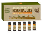 USDA Organic Certified Aromatherapy Essential Oils Kit set of 6 10ml Scents