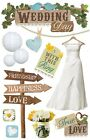 PAPER HOUSE WEDDING DAY LOVE ANNIVERSARY DIMENSIONAL 3D SCRAPBOOK STICKERS