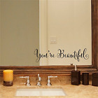 Youre Beautiful Removable Decal Stickers Mirror Art Wall Sticker Vinyl Decor