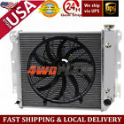 4Row Aluminum Radiator16Fan For 87 95 Jeep Wranglers TJYJ Chevy V8 Conversion