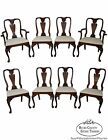 Hickory Chair Set of 8 Solid Mahogany Traditional Queen Anne Style Dining Chairs
