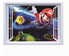 NEW 3D Super Mario Bros Space Removable Wall Stickers Decal Kids Home Decor USA