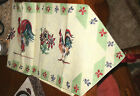 Pfaltzgraff~DayBreak Tapestry French Country Rooster Table Runner with tassels