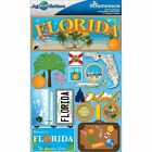 REMINISCE JET SETTERS FLORIDA TRAVEL VACATION DIMENSIONAL 3D SCRAPBOOK STICKERS