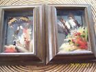 VINTAGE FRAMED REAL BUTTERFLIES FLOWER  BUTTERFLY TAXIDERMY LOT OF 2
