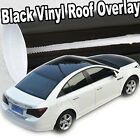 Gloss Solid Black Out Vinyl Overlay Moon Roof Tint Top Cover Film 60 x 53 C92