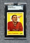 1959-60 TOPPS #42 TERRY SAWCHUK SGC 84, PSA 7 NM-MINT, OUTSTANDING COLOR! RARE!