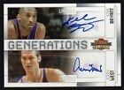 2009-10 Panini Threads Kobe Bryant Jerry West Generations Dual Auto #12 25