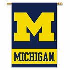 University of Michigan Wolverines 2 Sided House Flag Banner