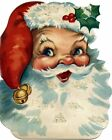 12 HANG GIFT TAGS CHRISTMAS VINTAGE RETRO SANTA IMAGES 731 A