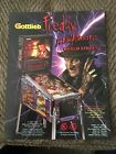 1994 Gottlieb Freddy Krueger Nightmare On Elm Street Pinball Flyer