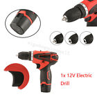 Durable 12V Lithium-Ion Cordless Electric Drill Variable Speed Driver w/Bits Set