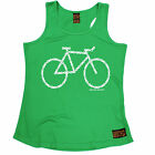 Bike Made Of Chain RLTW WOMENS DRY FIT VEST singlet cycling birthday funny gift