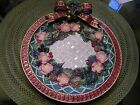 Vintage Fitz and Floyd Classics Christmas Wreath Canape Plate Ret. $32