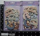 FOREVER IN TIME NEW EMBELLISHMENTS SCRAPBOOKING 2 PKG CHIPBOARD LETTERS STARS