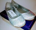 Girls size 6 Cherokee Fannie Ballet Flats White with sparkles NEW In Box