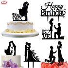 Acrylic Mr  Mrs Bride Groom Wedding Love Cake Topper Party Favors Decoration
