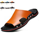 New Summer Beach Mens Casual Leather Sandals Shoes Anti slip Slippers