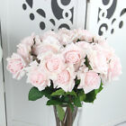 Real Touch Artificial Rose Peony Silk Flower Leaf Bouquet Home Floral Home Dcor