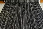 WHITE PIN STRIPES ON BLACK 100 Cotton Quilt Fabric by the 1 2 yard BTHY