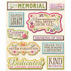 KCOMPANY STICKER MEDLEY MEMORIAL IN MEMORY REMEMBER FAMILY SCRAPBOOK STICKERS