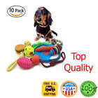 Dog Toy 10 Pack Set Ball Rope and Chew Squeaky Toys for Small Medium Dog