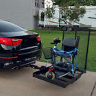 660lbs Strong Wheelchair Hitch Carrier Mobility Electric Scooter Loading Ramp FG