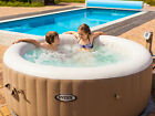 Outdoor Backyard PureSpa Intex 120 Bubble Jets 4 Person Octagonal