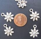 DIY pendants charms crafts SUNFLOWER FLOWER Item 130 5 charms